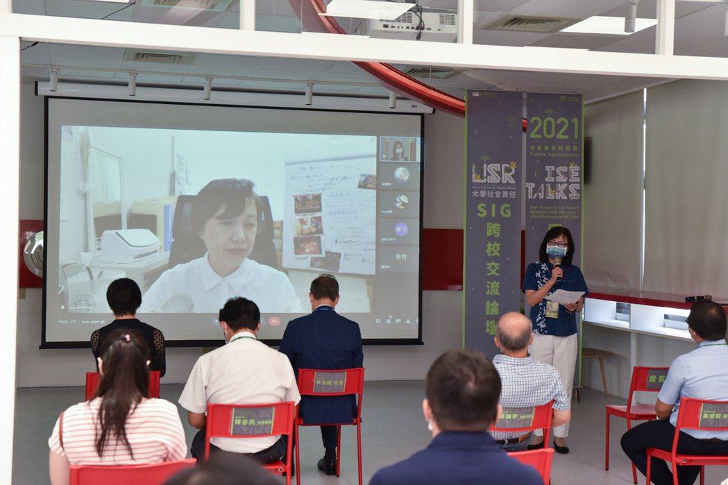 日本神戶大學清水夏樹教授跨國視訊分享。 黃啟銘/攝影。
