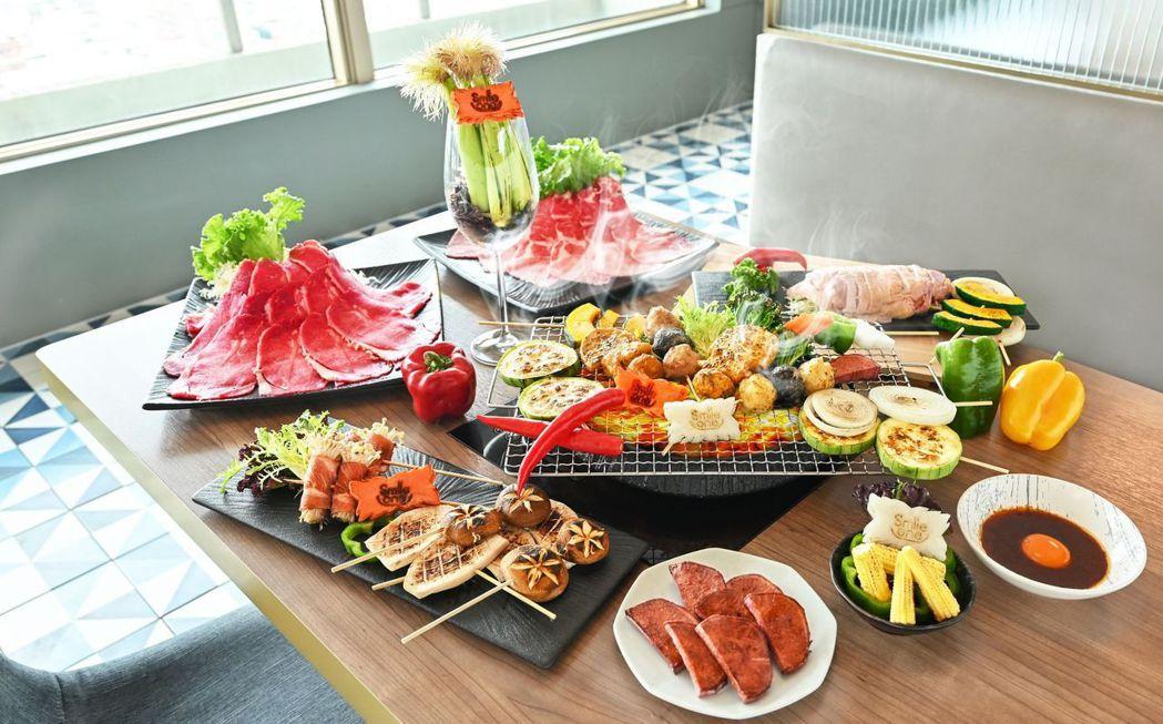 高雄福華Smile One精緻涮涮鍋,以餐廳內頗受歡迎的有機蔬菜及肉品組合,推出...