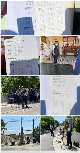 台南市經發局、環保局及北門區公所16日進行現場實地噪音測試,數據結果顯示均合乎標...