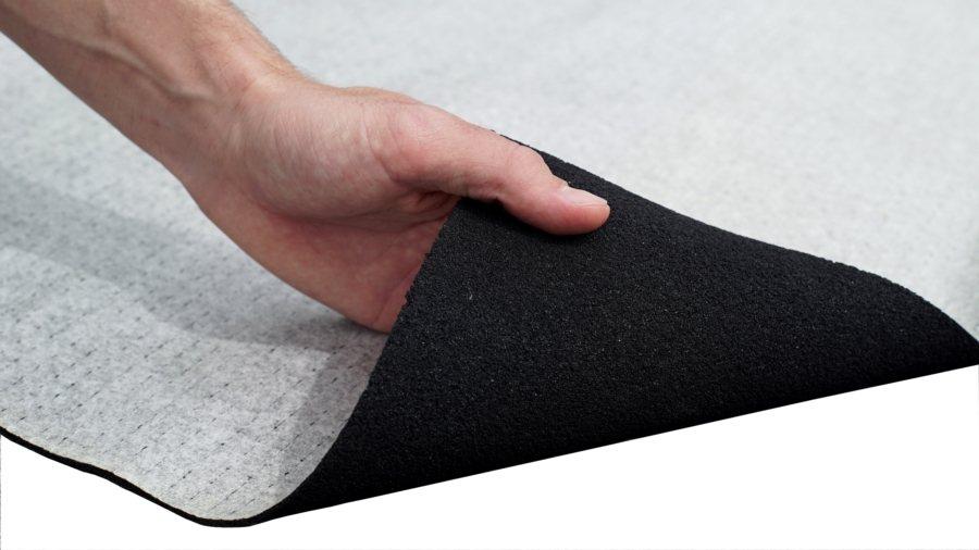 旺帝企業所引進的加拿大Duracoustic靜音樓板墊。   旺帝企業/提供