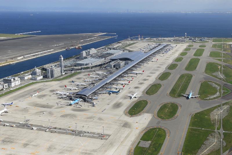 日本國土開發填海造陸完成關西機場奇蹟工程。 業者/提供