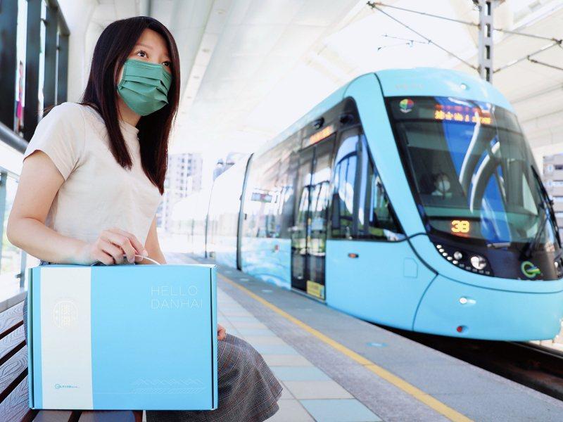 新北捷運公司推出「淡海名物寶盒」,將大淡水的人氣特產一次匯集,能把淡水的河岸風味購足。 圖/紅樹林有線電視提供