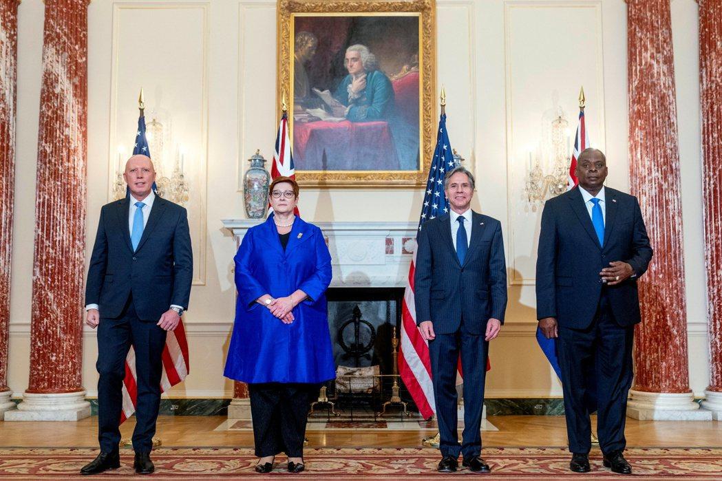 澳洲國防部長Peter Dutton、外交部長Marise Payne與美國國務...