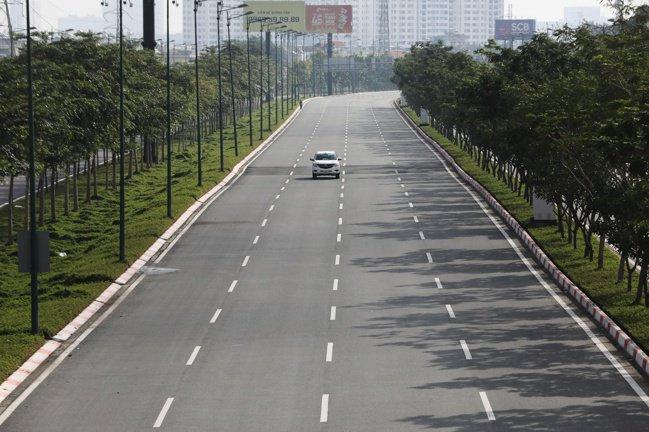 胡志明市8月底街上一景。路透