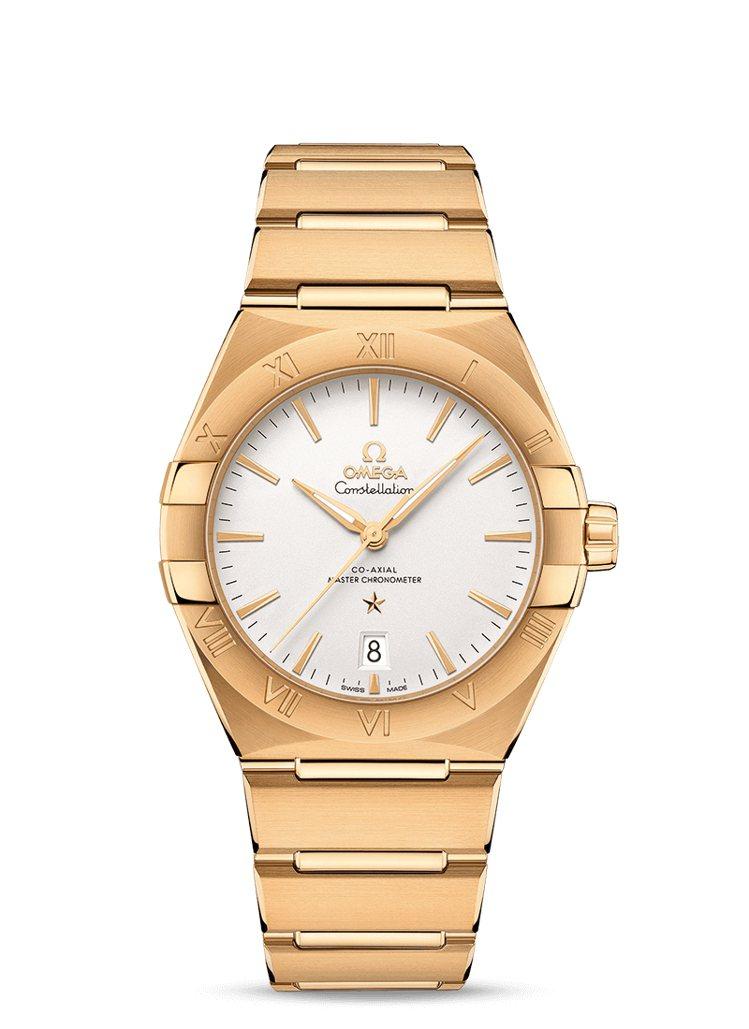 OMEGA 18K黃金歐米茄星座腕表,價格店洽。圖 / OMEGA提供