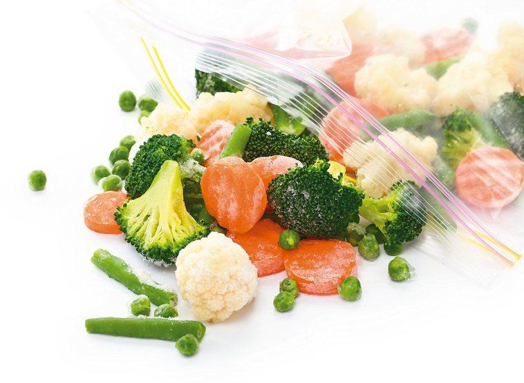 青菜缺乏時,冷凍蔬菜也是不錯選擇。圖/123RF