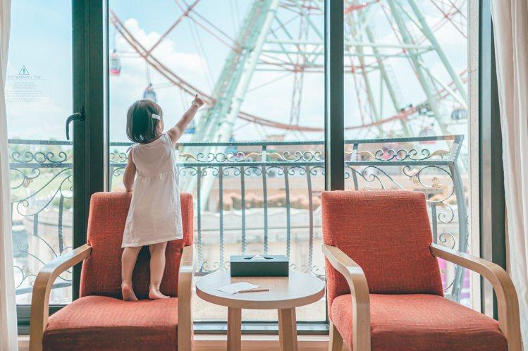 義大皇家酒店限量煙火景觀房開賣。圖/義大世界提供