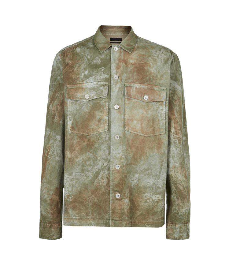 紮染印花長袖襯衫,定價5,600元。圖/ALLSAINTS提供