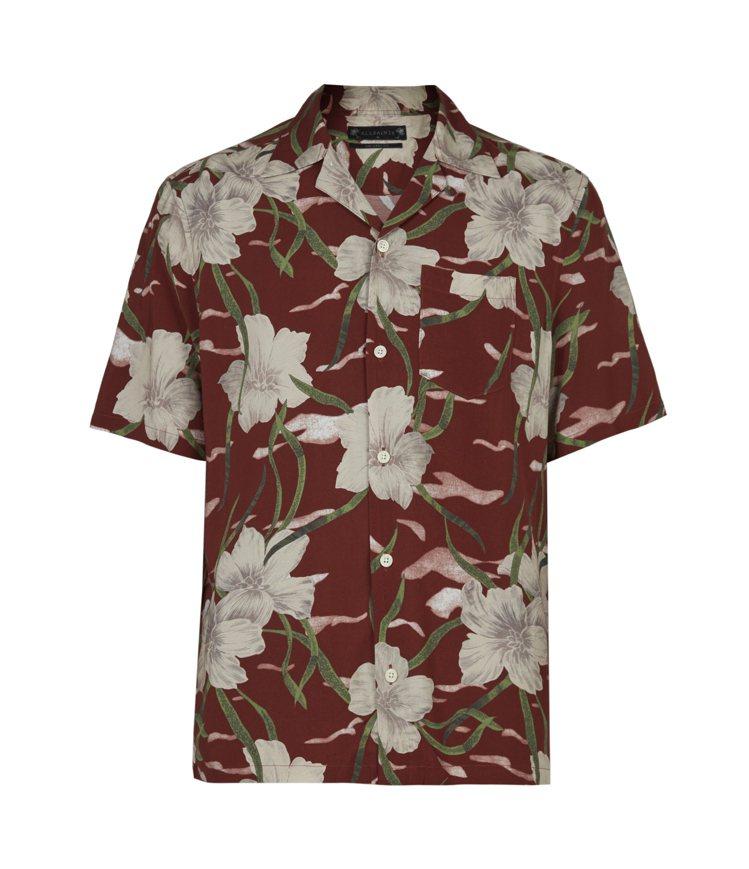 夏威夷印花短袖襯衫,5,000元。圖/ALLSAINTS提供