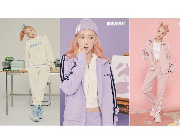 太妍演繹NERDY秋冬季運動服,馬卡龍色彩相當夢幻。圖/取自IG