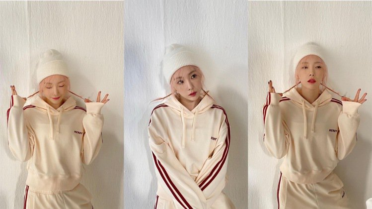 太妍代言韓國品牌NERDY的秋季系列。圖/取自IG