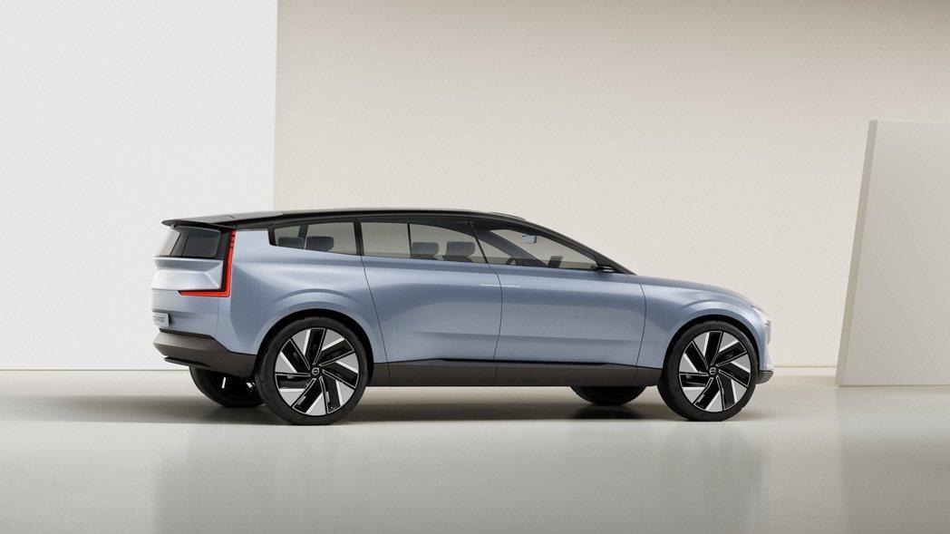 象徵第三代XC90的Volvo Concept Recharge概念車。 摘自V...