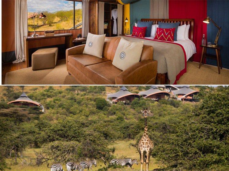 各種野生動物景觀為度假村加分。圖/取自Mahali Mzuri官網