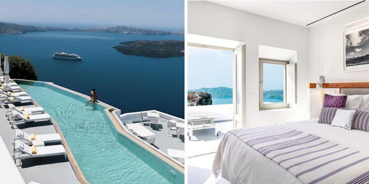 Grace Hotel在愛琴海地區擁有多座酒店,景致相當磅礡迷人。圖/取自IG