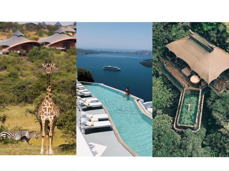 《Travel + Leisure》2021年度百大酒店票選結果出爐。圖/取自各酒店官網或IG