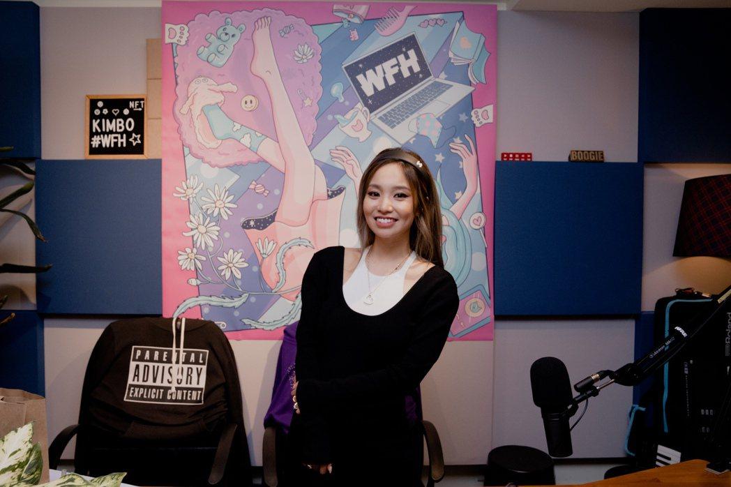 陳芳語昨舉辦新專輯「WFH」線上聽歌會。圖/華風數位提供