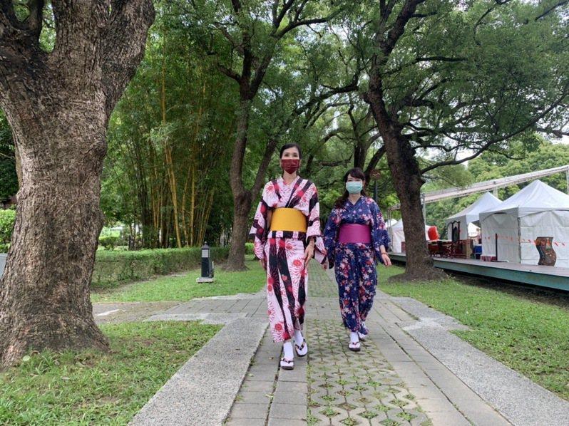台南總爺和風文化祭享受偽日本出國的樂趣。記者吳淑玲/攝影