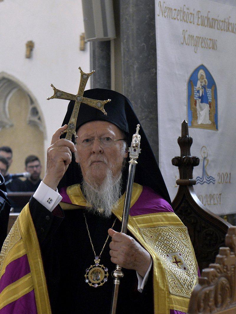 東正教徒名義領袖巴爾多祿茂一世。 歐新社