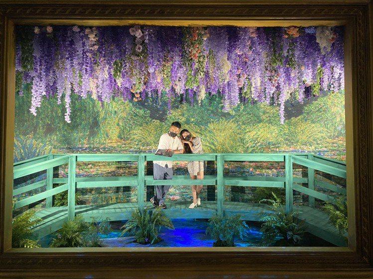 《印象莫內-光影體驗展》即日起至12月19日在新光三越高雄左營店展出。圖/新光三...