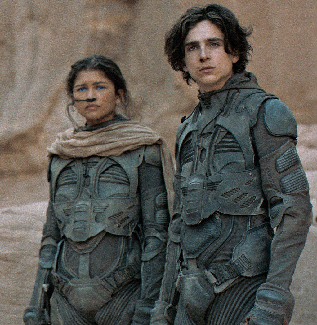 「沙丘」提摩西夏勒梅(右)與辛蒂亞都已貴為影帝和視后。圖/摘自imdb