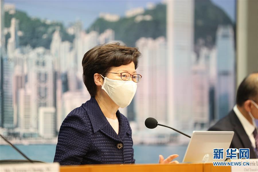 香港特首林鄭月娥在香港選委會選舉投票於19日晚上6點結束後發表聲明指出,此次選舉...