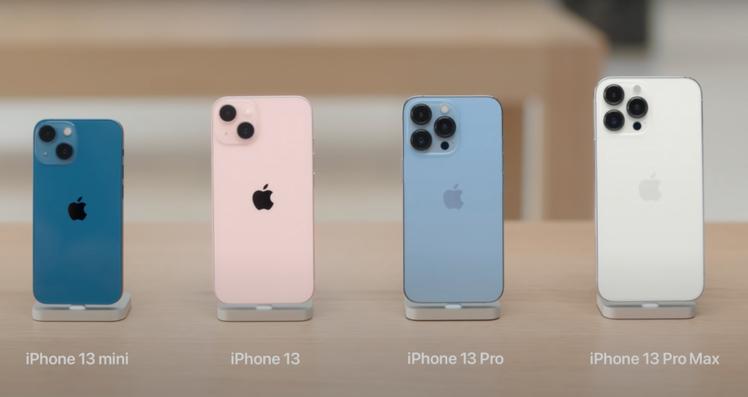 iPhone 13的粉紅色與iPhone 13 Pro的天峰藍新色超吸睛。圖/摘...