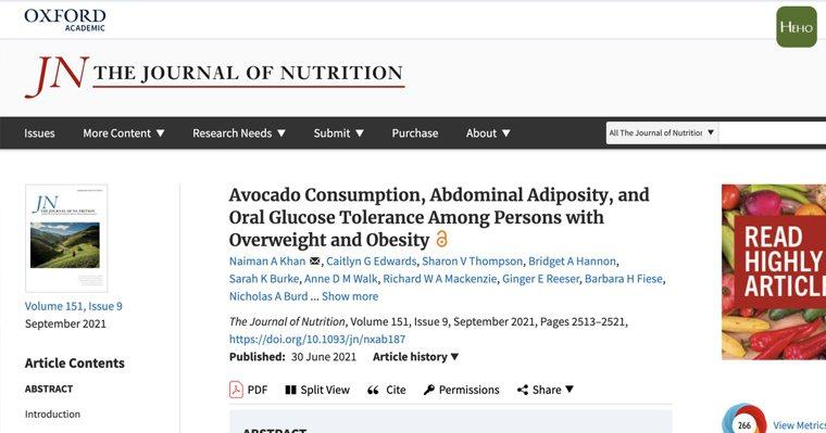 有研究發現,把酪梨當作日常中飲食選擇,持續 12 週後改變女性腹部脂肪分佈、連內...