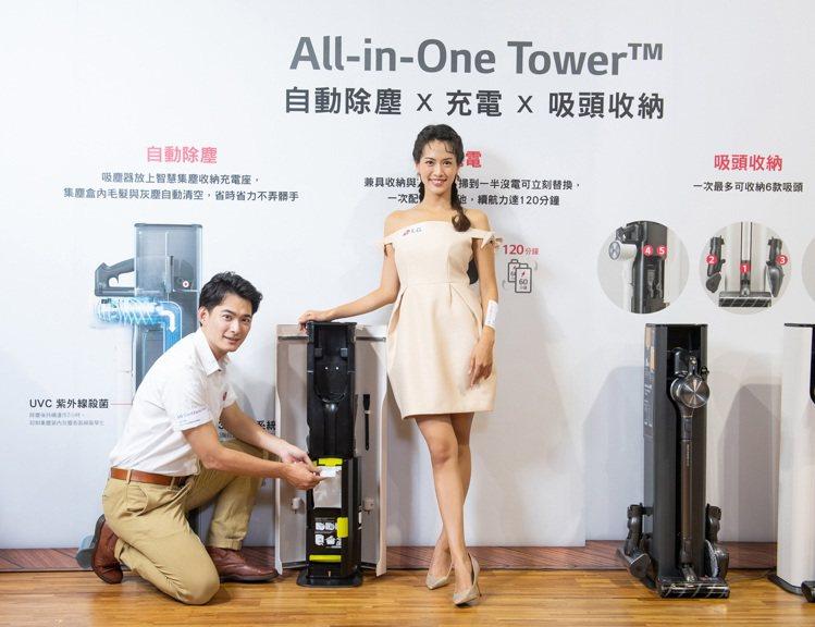 LG A9 T系列All-in-One濕拖無線吸塵器,獨家自動除塵科技3道過濾及...