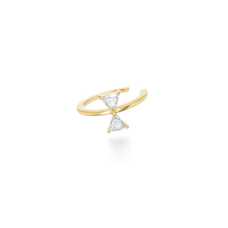 AHKAH cerf-volant diamond耳骨夾,30,200元。圖/A...