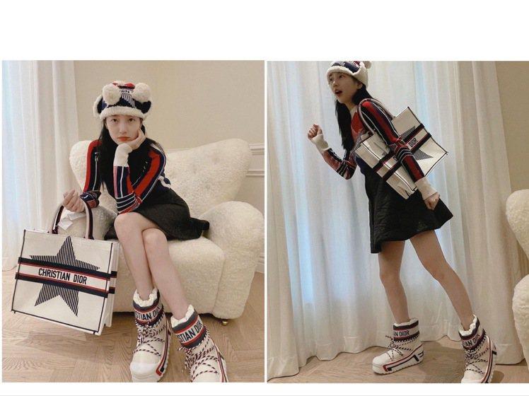 秀智在IG放上詮釋DIOR新品DiorAlps的照片,纖瘦模樣引起粉絲驚呼。圖/...
