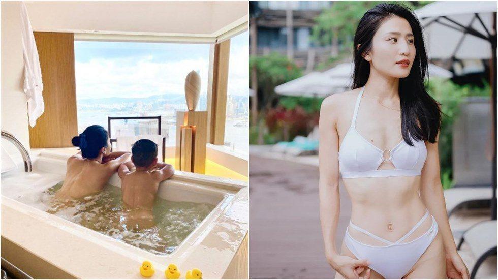林芊妤與3歲兒子共浴遭批。圖/摘自IG