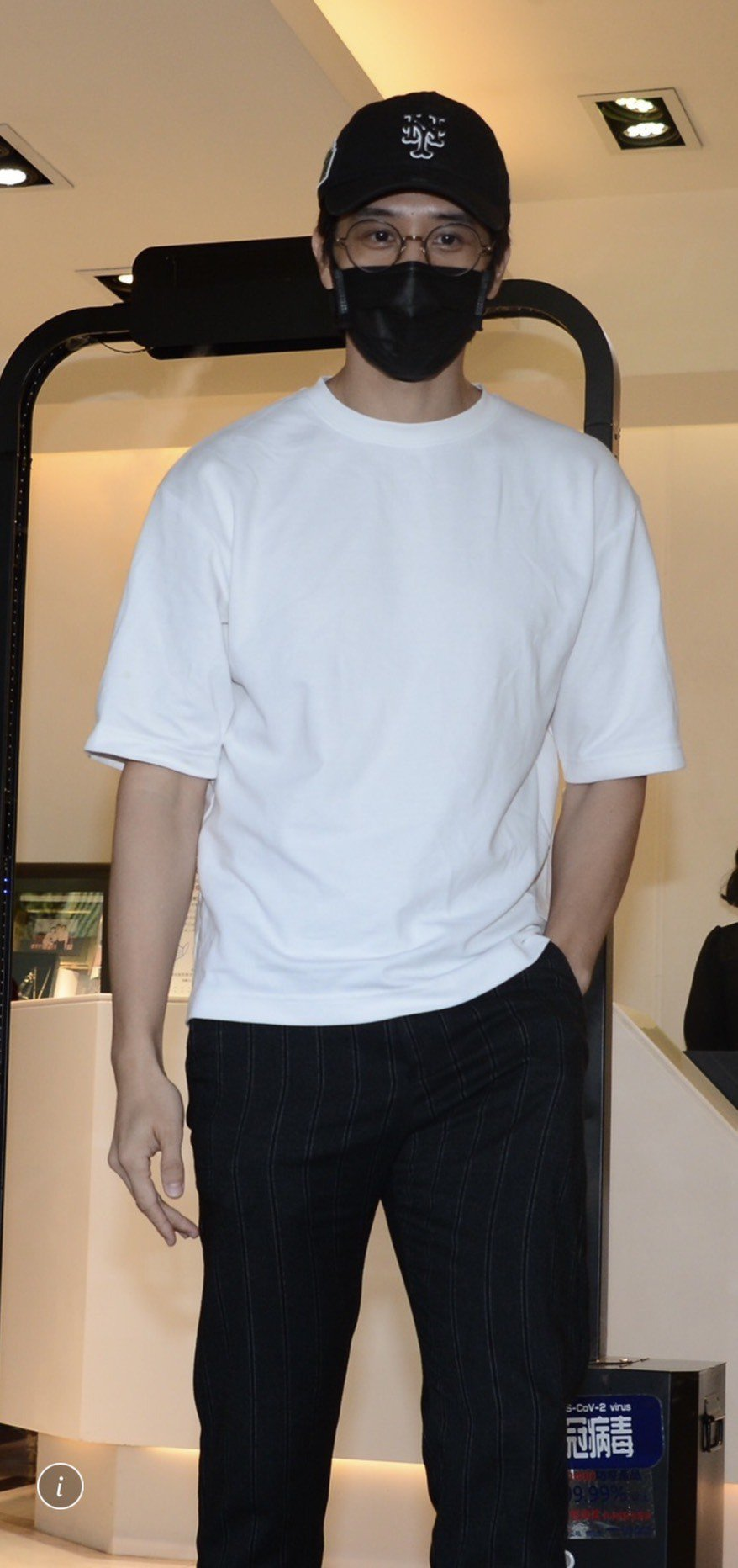 胡宇威二度赴靈堂致意。記者陳慧貞/攝影