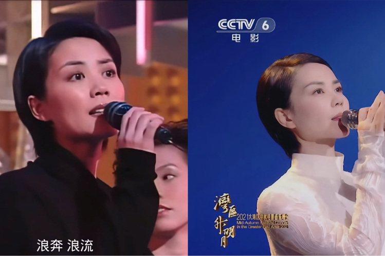 眼尖的粉絲挖出了1997年參與節目錄製的影像(左),與今年出席中秋節特別節目的造...