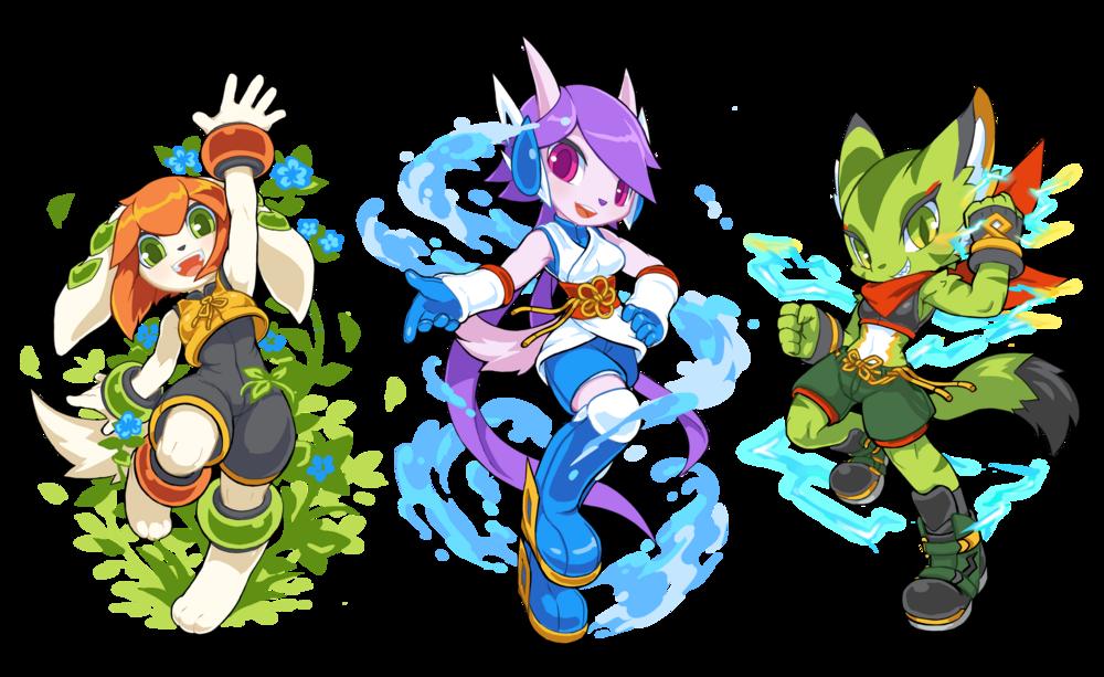 小獵犬 Milla、龍女 Lilac 與山貓 Carol