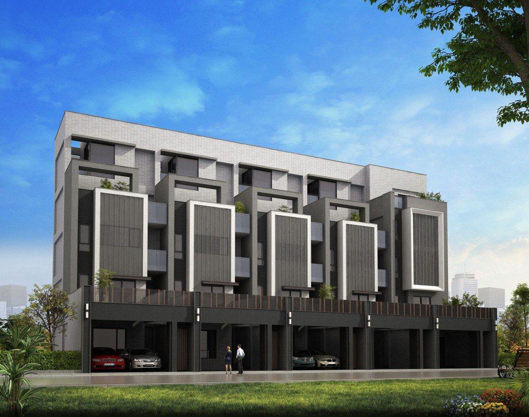房子3D示意圖 。    豪美磁磚/提供