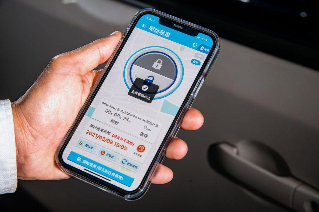 格上車共享可用悠遊卡、藍芽、4G開關鎖。 格上租車/提供