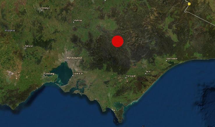 澳洲22日早上發生規模5.6地震。截自推特
