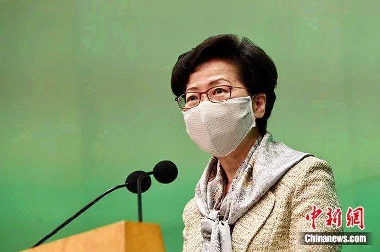 香港特首林鄭月娥今啟程訪問大陸多個城市。圖/中新網