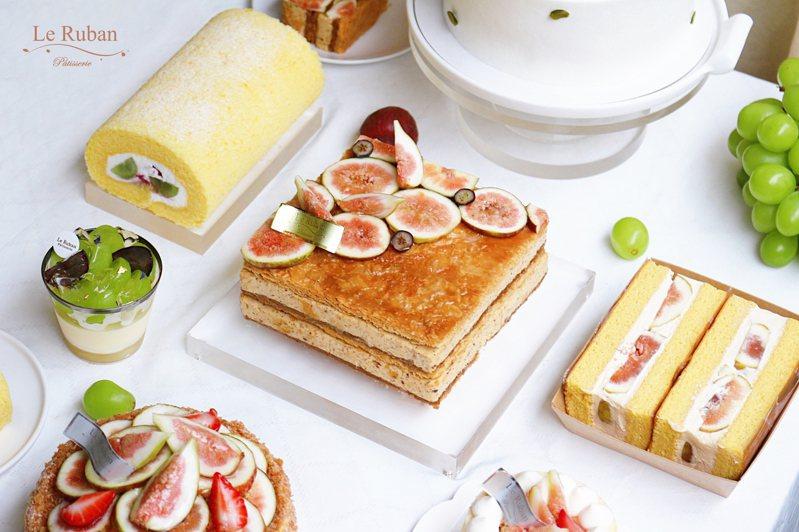 法朋的甜點繽紛誘人,法式滋味裡隱含著台灣土地的氣息。圖/法朋烘焙甜點坊提供