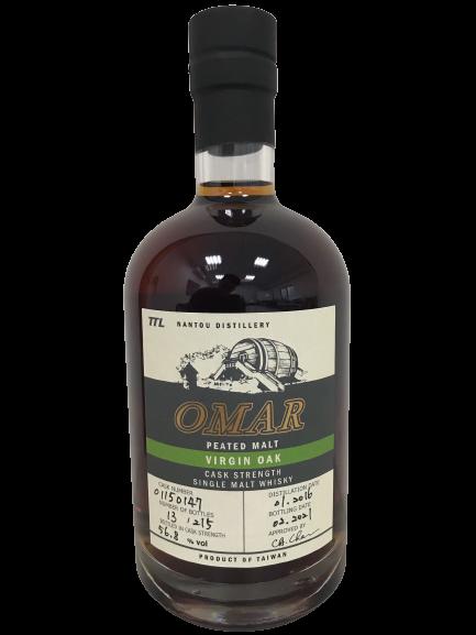 OMAR原桶強度單一泥煤麥芽威士忌(新橡木桶)#01150147,今年獲IWSC...