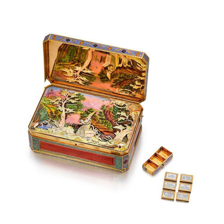 McCullough魔術師問答音樂活動人偶盒,博物館等級、非常精美及獨一無二金及...