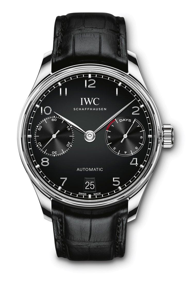 IWC葡萄牙系列自動腕表,精鋼、時間顯示、七日動力儲存,39萬9,000元。圖 ...