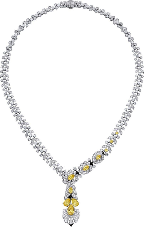 卡地亞頂級珠寶Sixiéme Sens系列黃鑽項鍊,白K金與鉑金鑲嵌白色和黃色...