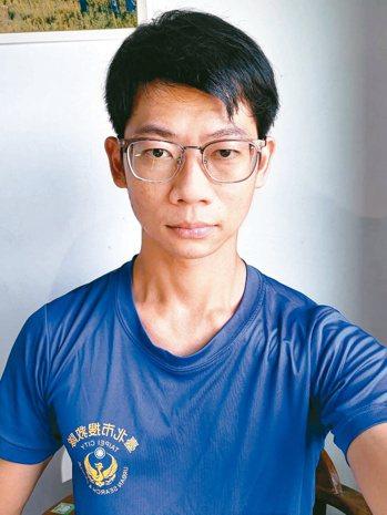 消防隊員王泰翔2年前中風,改變了他的人生。圖/王泰翔提供