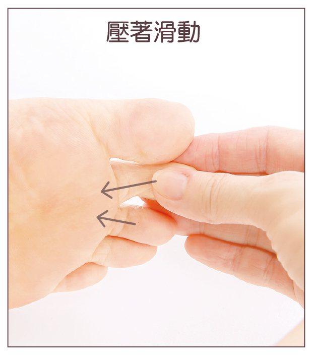 使用大拇指的指腹。 圖/蘋果屋出版社