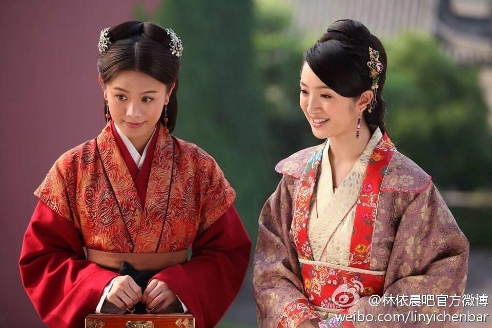 朱海君在「蘭陵王」中飾演林依晨的侍女。 圖/擷自林依晨吧官方微博