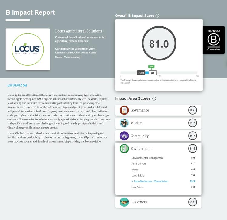 圖/全球B型企業揭露頁面 (B Corp Directory)