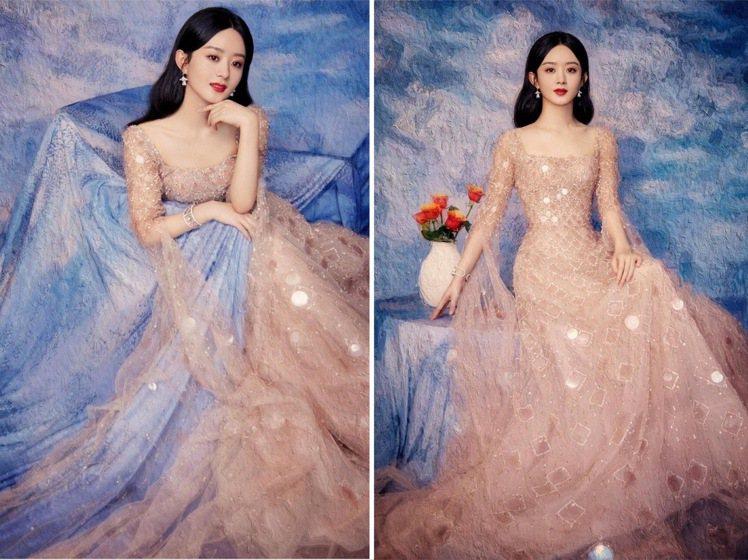 趙麗穎身穿Georges Hobeika系列,詮釋畫中仙子的氣質。圖/取自IG