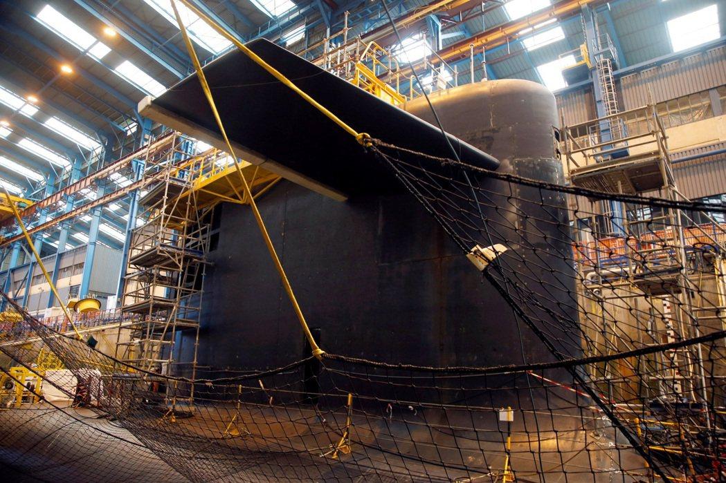 圖為法國凱旋級核潛艇。 圖/路透社