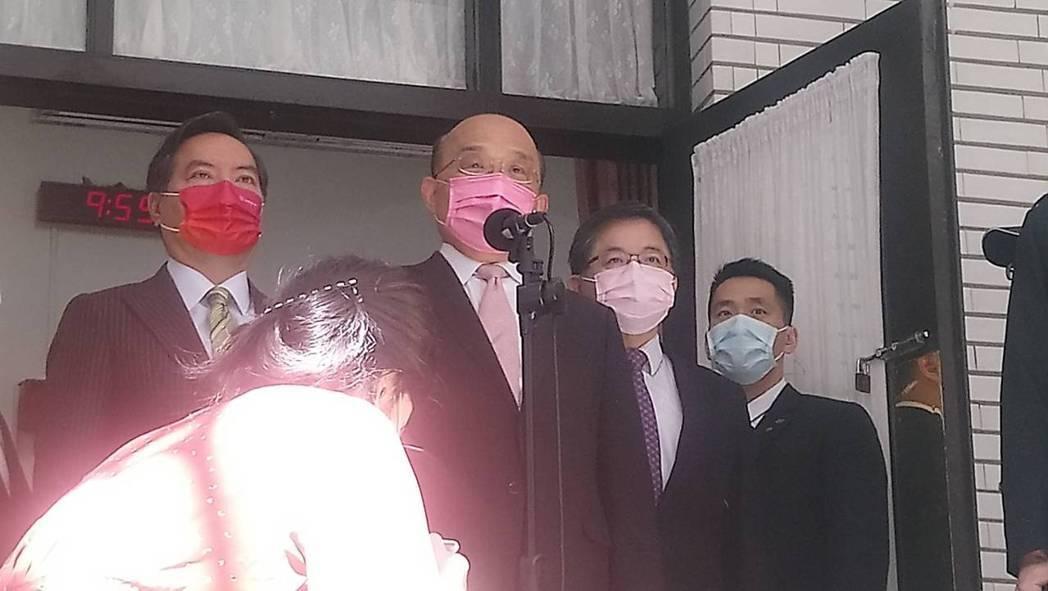 行政院長蘇貞昌。記者吳亮賢/攝影